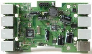 View of the top side of the NXT mainboard